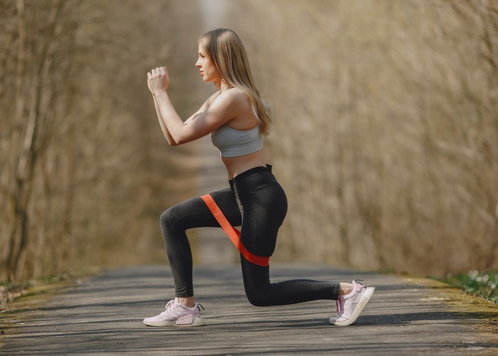 elastique musculation jambe